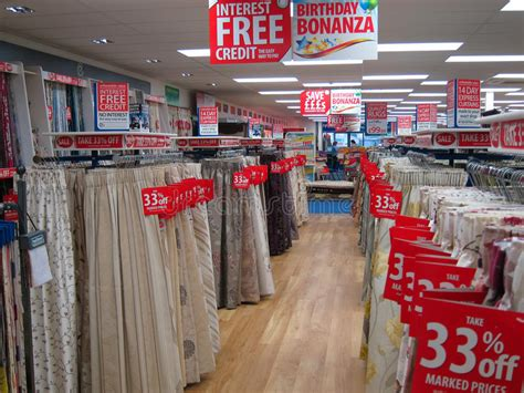 curtain outlet stores curtains or drapes for sale in a store editorial stock
