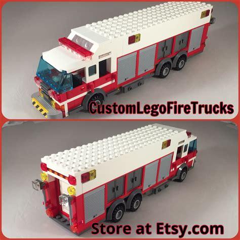 Custom Squad 4 custom lego heavy rescue squad truck