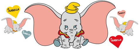 dumbo wall stickers personalised dumbo wall stickers totally movable