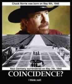 Chuck Norris Funny Meme - future twit chuck norris causing the surrender of nazi