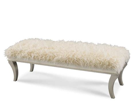 bedside bench hollywood swank bed bench by aico aico bedroom furniture