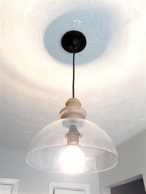 Diy Lighting Fixture Diy Glass Pendant Light Fixture Knockoff The Duckling House