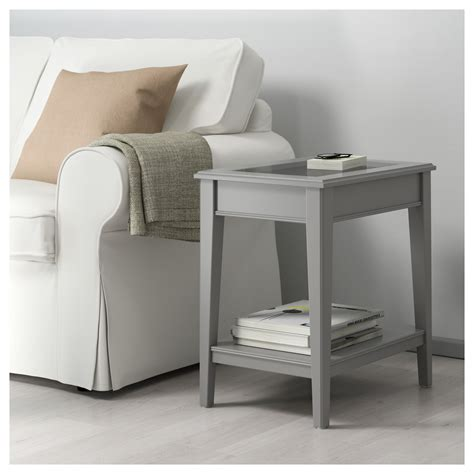 Ikea White Side Table Liatorp Side Table Grey Glass 57x40 Cm Ikea