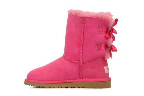 pink ugg boots with bows ugg australia bailey bow ankle boots in pink at sarenza co
