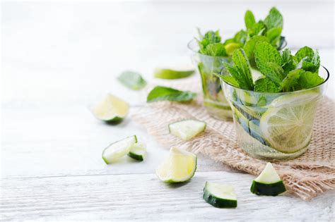 Cucumber Mint Lemonade Detox by Cucumber Lime Mint Fresh Infused Water Detox Drink
