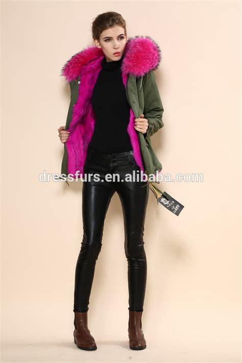 Green Jacket Parka Korean Sk 116 winter jacket parkas with showy color in furs