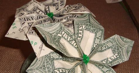 How To Make Money Origami Flower - how to make a money origami flower bliss tree