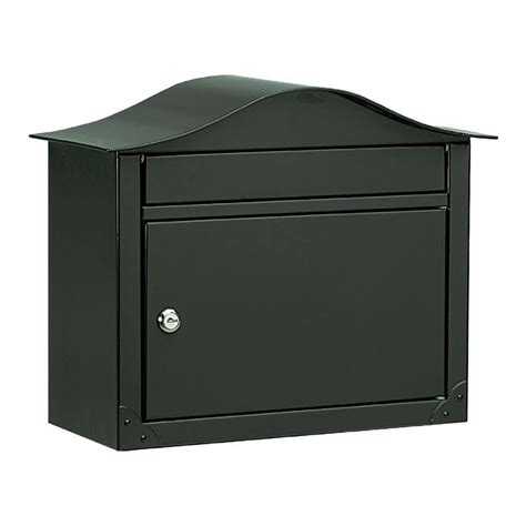 architectural mailboxes lunada black wall mount mailbox