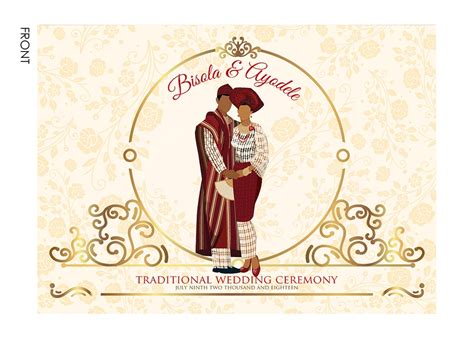 Traditional Wedding Invitations by Traditional Wedding Invitation Card Yoruba