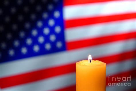 candele americane american flag and candle photograph by olivier le queinec