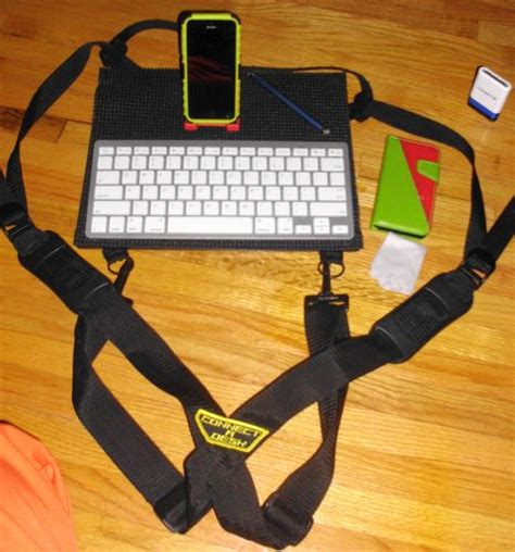 connect a desk mobile laptop harness desk
