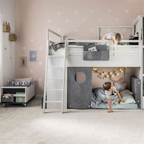 nest bed nest kids cabin bed in larch effect graphite nest bed cuckooland