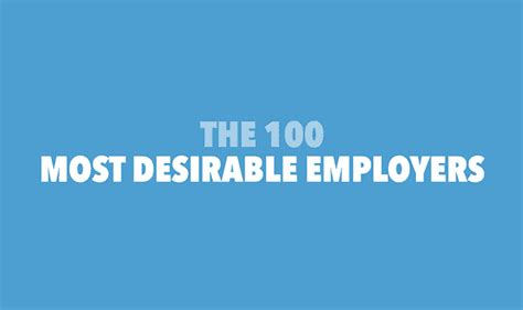 100 Most Desirable Mba Employers by The 100 Most Desirable Employers Infographic Visualistan
