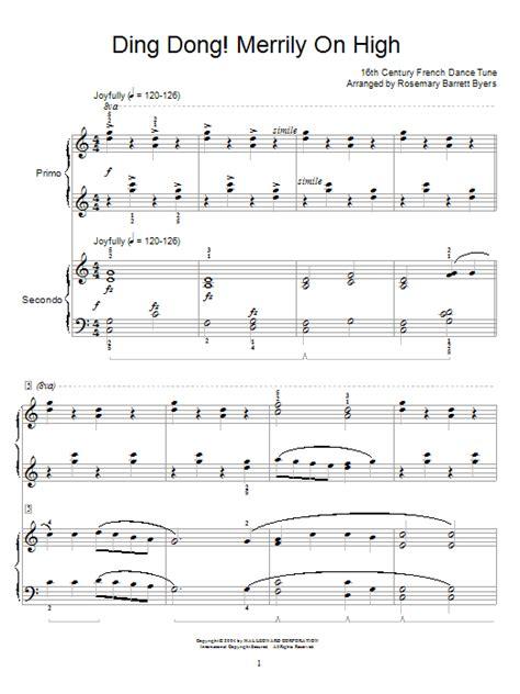 printable lyrics for ding dong merrily on high ding dong merrily on high sheet music direct