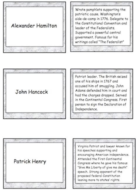 revolutionary war trading cards template 1000 images about colonial days revolutionary war on