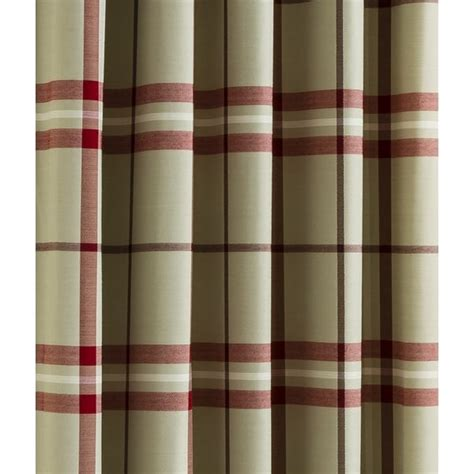 red check curtains belfield furnishings lomond red check eyelet readymade