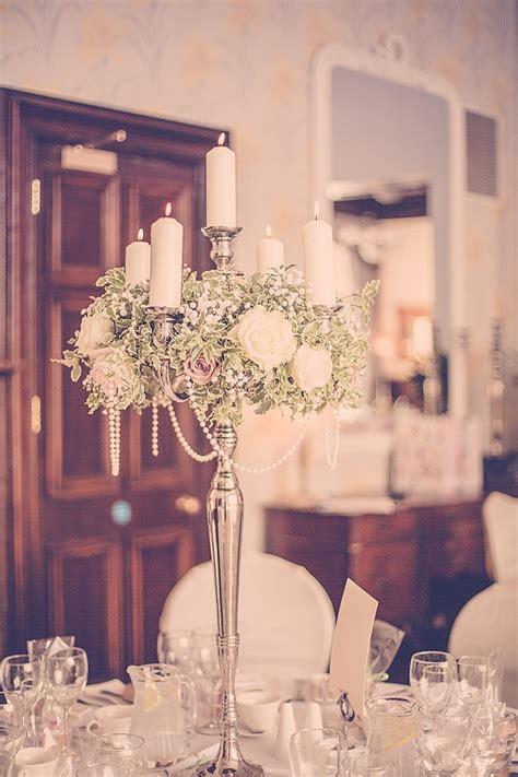 wroxall abbey wedding flowers vintage glamour candelabra