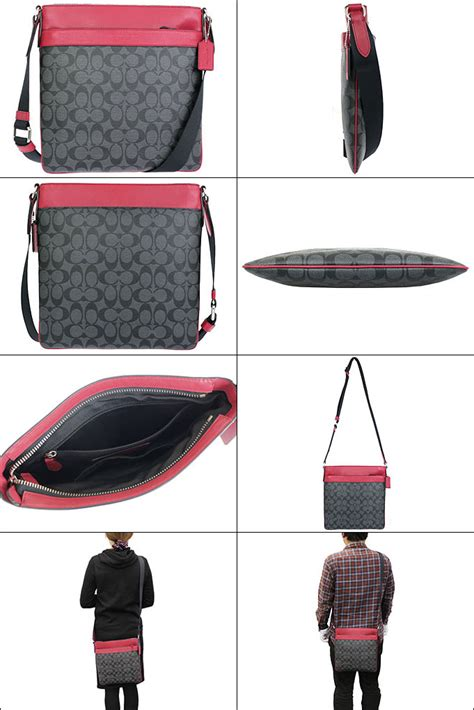 coach f71877 s bowery charcoal true signature