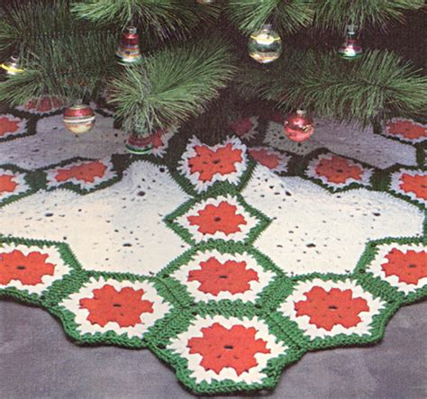 crochet patterns christmas tree skirts crochet club