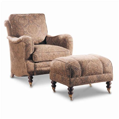 chair with attached ottoman sherrill casual semi attached back chair ottoman with