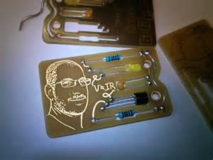 Lighting Technician Business Card Circuit Board Business Card Hackaday