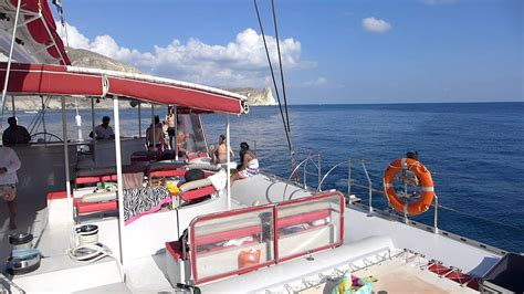 sunset sailing catamaran cruise santorini santorini sunset catamaran cruise lunch stop youtube