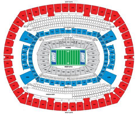metlife stadium seating chart giants metlife stadium e rutherford nj seating chart view