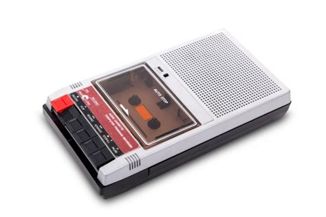 audio cassette player fast forward to the 1980s as the cassette player makes a