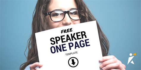 speaker one sheet template speaker one sheet template speakerhub