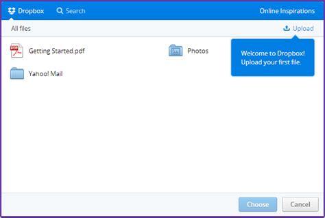 dropbox gst attach huge files in yahoo through dropbox online