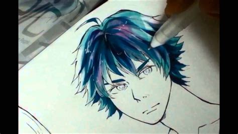 how to color black hair mblv how to color the hair using copic markers