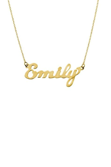 gemma collection gold name plate necklace from dallas