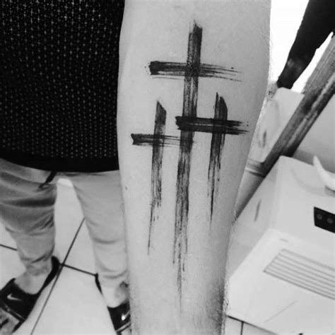 three crosses tattoos 145 best cross tattoos images on cross