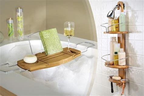 bath and shower caddy bamboo bath and shower caddy deal of the day groupon
