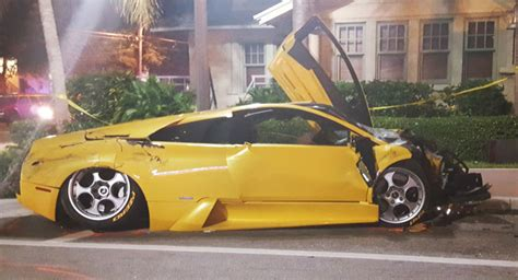 lamborghini suspected of speeding with porsche crashes