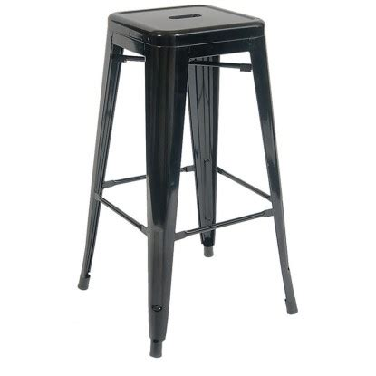 bistro style bar stools bistro style metal backless bar stool in black finish