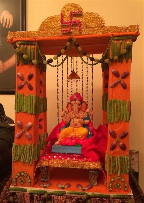 ganpati decoration ideas  home ganpati decoration