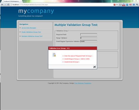 java validation pattern message asp net server side messages client validation message