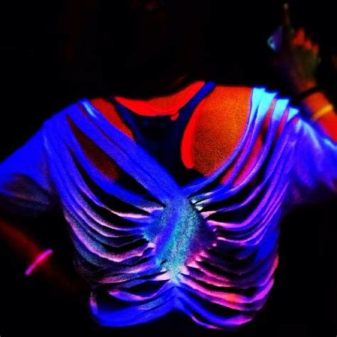 glow in the paint t shirt cut up a shirt for a blacklight it s all about