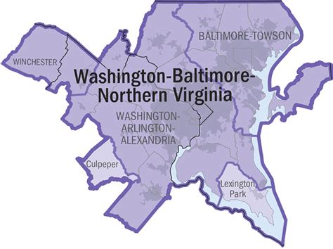 northern virginia map district of columbia statistical areas