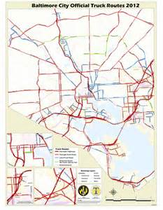 Truck Route Map by Baltimore Truck Route Maplets