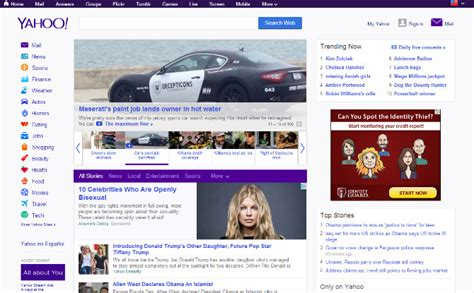 yahoo new layout 2014 how to use color psychology in your web design projects