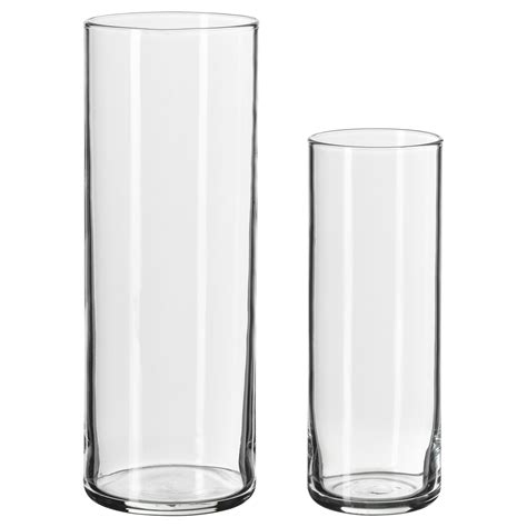 Cylinder Vase by Two Glass Cylinder Vase With Different Height Of Stunning