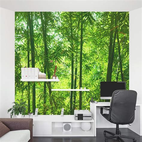 Kitchen Dining Room Designs Bamboo Wall Mural Forest Wallpaper Mural Wallums