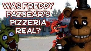 Was freddy fazbear s pizzeria real maybe youtube