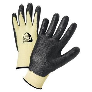 west chester pro nitrile dipped kevlar large work gloves