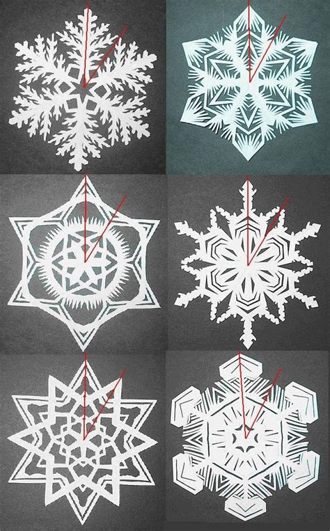 How To Make 6 Pointed Paper Snowflakes - how to make paper snowflakes dialect zone international