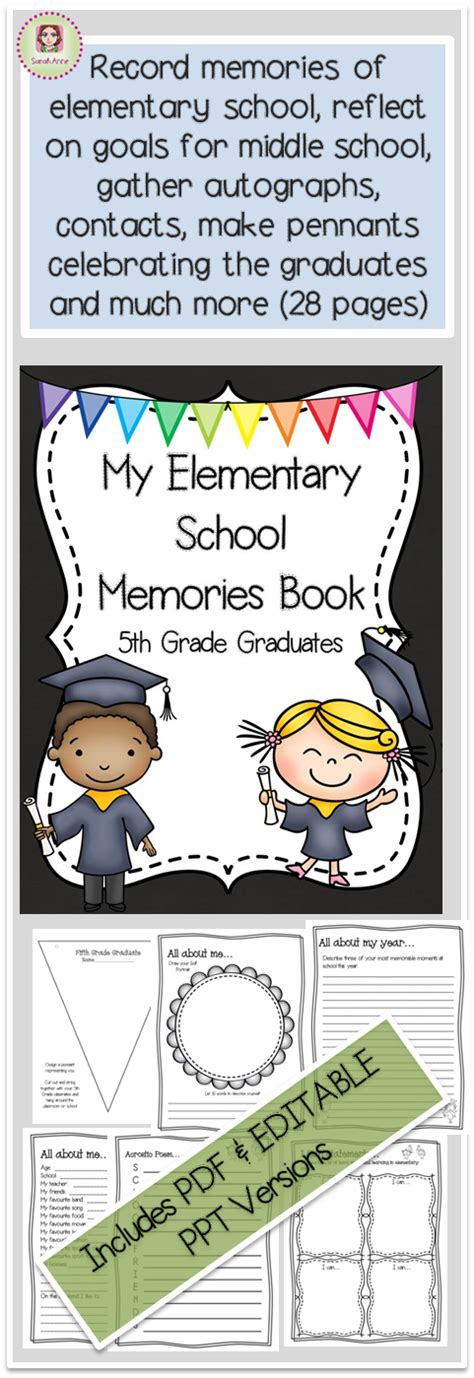 recurdos mios my memories my elementary memories memory book fifth grade graduates end of year graduaci 243 n