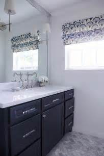 blue bathroom vanity transitional bathroom
