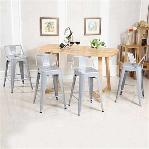 Low Bar Stool Height by 4 Pc Bar Stool Height With Low Back Onebigoutlet